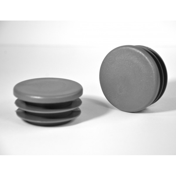 embout rond ailettes diam 50 mm plastique gris embout rond gris ajile. Black Bedroom Furniture Sets. Home Design Ideas