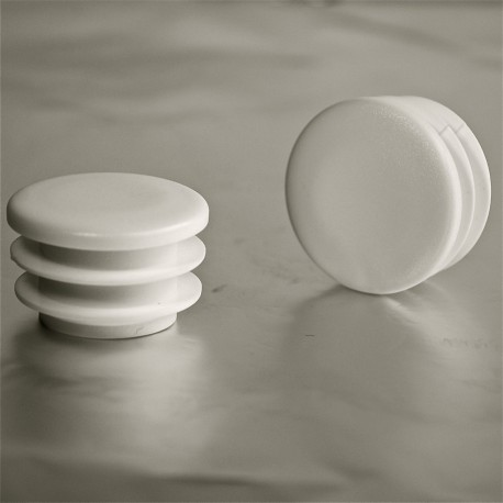 Embout rond ailettes diam 35 mm plastique blanc for Chaise pied rond
