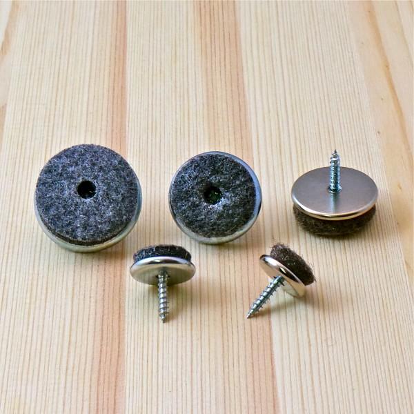 patin visser diam 20 mm feutre gris patin glisseur visser ajile. Black Bedroom Furniture Sets. Home Design Ideas