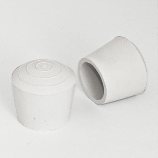 embout enveloppant rond diam 30 mm caoutchouc blanc. Black Bedroom Furniture Sets. Home Design Ideas