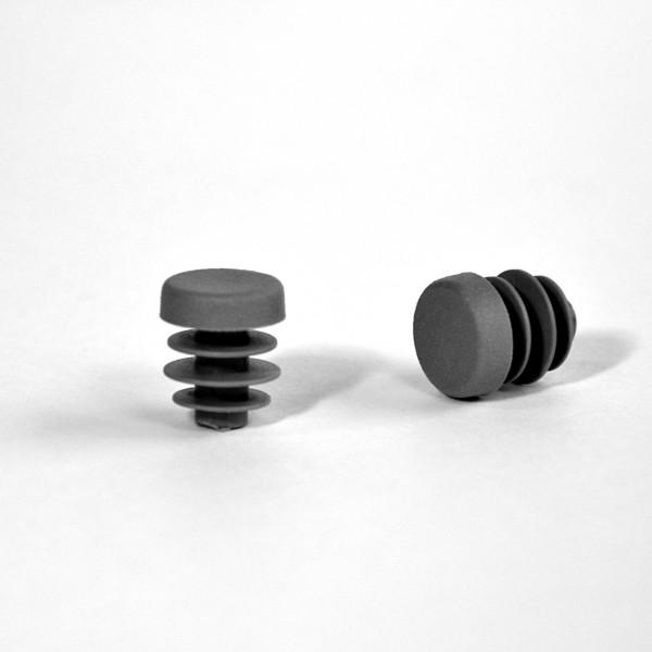 embout rond ailettes diam 13 mm plastique gris embout rond gris ajile. Black Bedroom Furniture Sets. Home Design Ideas