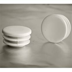 Round ribbed insert for tubes diam. 40 mm WHITE plastic - Ajile