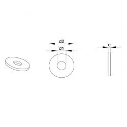 Pour vis M8 : Rondelle plastique standard pour vis diam. M8 - Ajile
