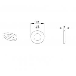 Pour vis M4 : Rondelle plastique large pour vis diam. M4 - Ajile