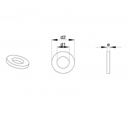 M12 Grosse Unterlegscheibe für Schraube M12 - DIN9021 - Ajile