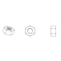 M2,5 : Écrou plastique hexagonal diam. M2,5 clef de 5 mm - Ajile
