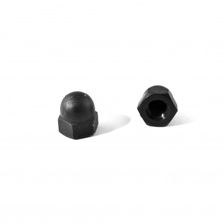 M8 DIN1587 : Plastic hex. M8 dome nut for 13 mm wrench - Black - Ajile
