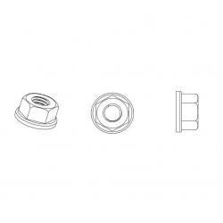 Dado M5 esagonale a rondella di plastica - Chiave 8 mm - COLORE NYLON NATURALE - Ajile