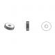 M6 DIN467 : Plastic knurled nut 16 mm exterior diameter - White - knurled-nut-white - ajile
