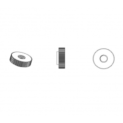 M6, 16 mm Aussendiam. Rändelmutter aus Kunststoff - DIN467 - WEISS - Ajile 2