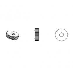 Dado M4 x D15 mm DIN467 zigrinato di plastica - NERO - Ajile