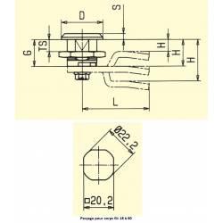 Verrou à came plate clé triangle 8 mm polyamide noir - Ajile 2