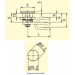 Verrou à came plate carré 7 mm PA noir - Ajile 2