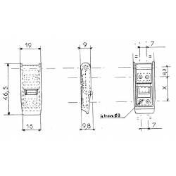 Grenouillère en plastique avec crochet, L 46,5 mm, l 19 mm,  polyamide noir - Ajile
