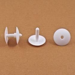 Rivetto spess. 6 a 22 mm a cricchetto per cartoni/assemblaggio di pannelli - Plastica - BIANCO - Ajile