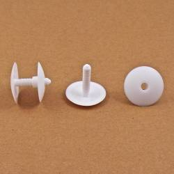 Thick. 6 to 22 mm ratcheting action rivet for carton/panel assembling - Plastic - WHITE - Ajile