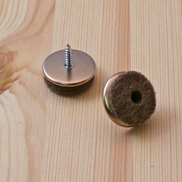 patin visser diam 24 mm feutre gris patin glisseur visser ajile. Black Bedroom Furniture Sets. Home Design Ideas