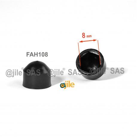 Tappo chiave 8 mm a cupola M5 di protezione per dadi e bulloni esagonali - NERO - Ajile