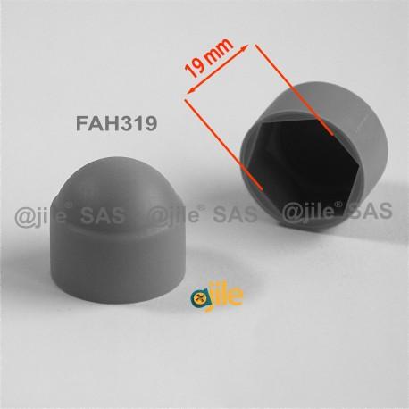 Tappo chiave 19 mm a cupola M12 di protezione per dadi e bulloni esagonali - GRIGIO - Ajile