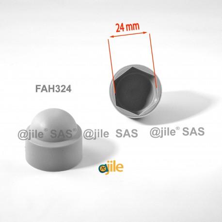 Tappo chiave 24 mm a cupola M16 di protezione per dadi e bulloni esagonali - GRIGIO - Ajile