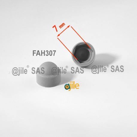 Cache vis écrou M4 clef de 7 mm GRIS - Ajile