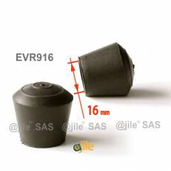 Round rubber ferrule diam. 16 mm BLACK floor protector