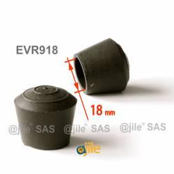 Round rubber ferrule diam. 18 mm BLACK floor protector