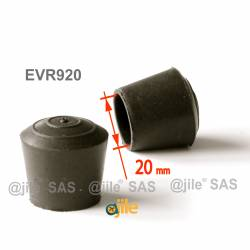 Round rubber ferrule diam. 20 mm BLACK floor protector