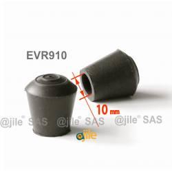 Round rubber ferrule diam. 10 mm BLACK floor protector