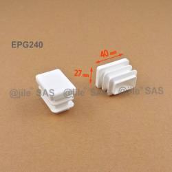 40 x 27 mm Lamellen-Stopfen für Rechteckrohre mit 40 x 27 mm Aussenmass - WEISS