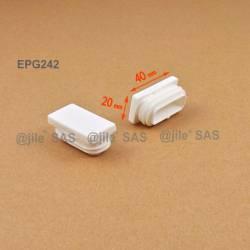 40 x 20 mm Lamellen-Stopfen für Rechteckrohre mit 40 x 20 mm Aussenmass - WEISS