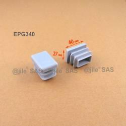 40 x 27 mm Lamellen-Stopfen für Rechteckrohre mit 40 x 27 mm Aussenmass - GRAU