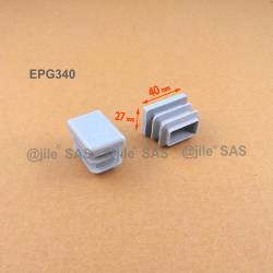 Rectangular insert for tube 40 x 27 mm GREY plastic