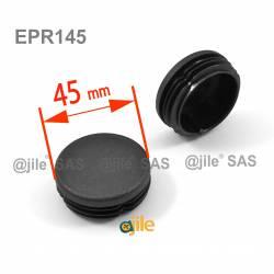 Embout à lamelles NOIR rond pour tube de diam. 45 mm