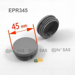 Round ribbed insert for tubes diam. 45 mm GREY plastic