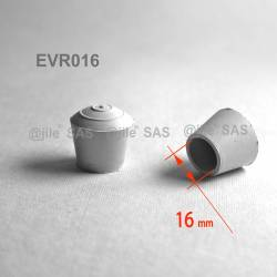 Round rubber ferrule diam. 16 mm WHITE floor protector - Ajile