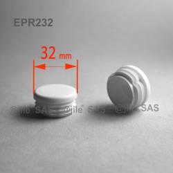 32 mm Diam. Lamellen-Stopfen für Rundrohre 32 mm Aussendiameter - WEISS - Ajile