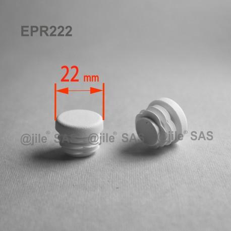 Embout rond à ailettes diam. 22 mm Plastique BLANC - Ajile