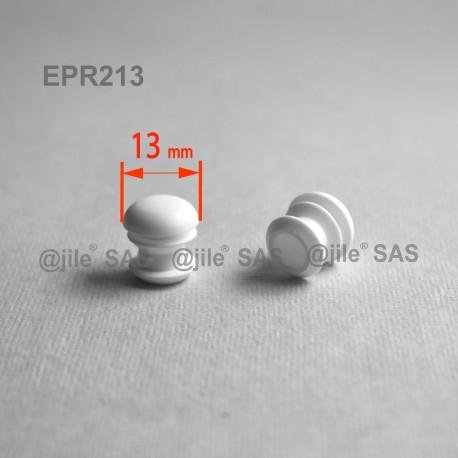 Embout rond à ailettes diam. 13 mm Plastique BLANC - Ajile