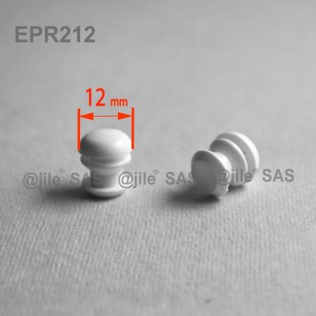 12 mm Diam. Lamellen-Stopfen für Rundrohre 12 mm Aussendiameter - WEISS - Ajile