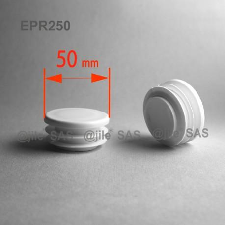 50 mm Diam. Lamellen-Stopfen für Rundrohre 50 mm Aussendiameter - WEISS - Ajile