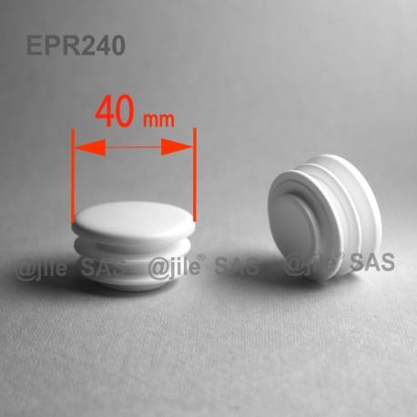 40 mm Diam. Lamellen-Stopfen für Rundrohre 40 mm Aussendiameter - WEISS - Ajile