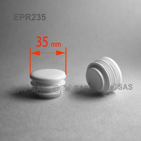 35 mm Diam. Lamellen-Stopfen für Rundrohre 35 mm Aussendiameter - WEISS - Ajile