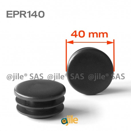 40 mm Diam. Lamellen-Stopfen für Rundrohre 40 mm Aussendiameter - SCHWARZ - Ajile