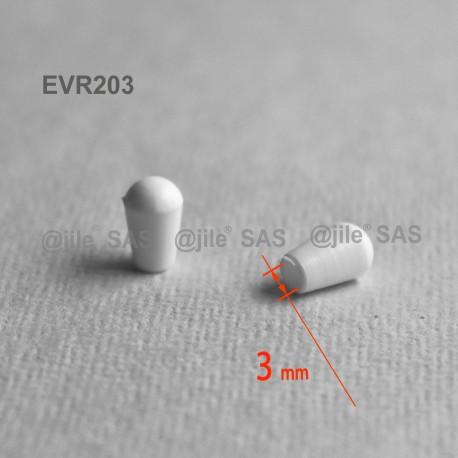 Embout enveloppant rond diam. 3 mm Plastique BLANC - Ajile