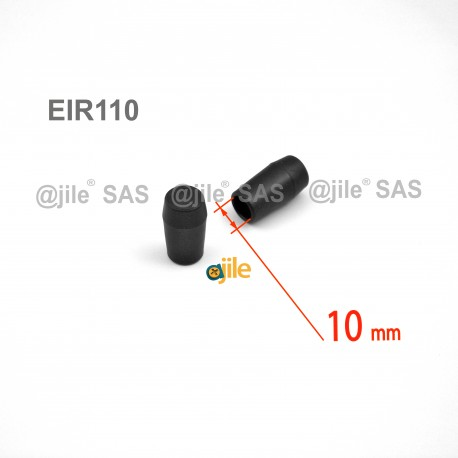 Embout enveloppant rond diamètre 10 mm pour usage intensif NOIR - Ajile