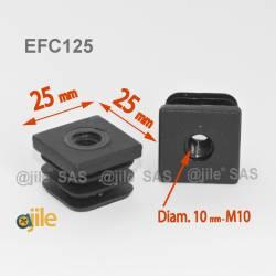 M10 Fussstopfen 25 x 25 mm...