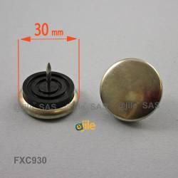 Sottosedia diam. 30 mm con acciaio rotondo di plastica con chiodo - Ajile