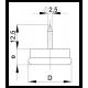 Round 30 mm diam. Steel base plastic nail glide - steel-base-plastic-nail-glide - ajile