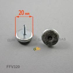 20 mm diam. Schraubengleiter mit Filzgleitfläche - GRAU
